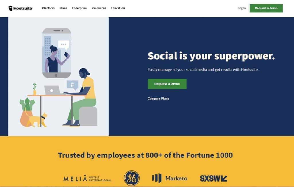 Social Selling Tool Hootsuite