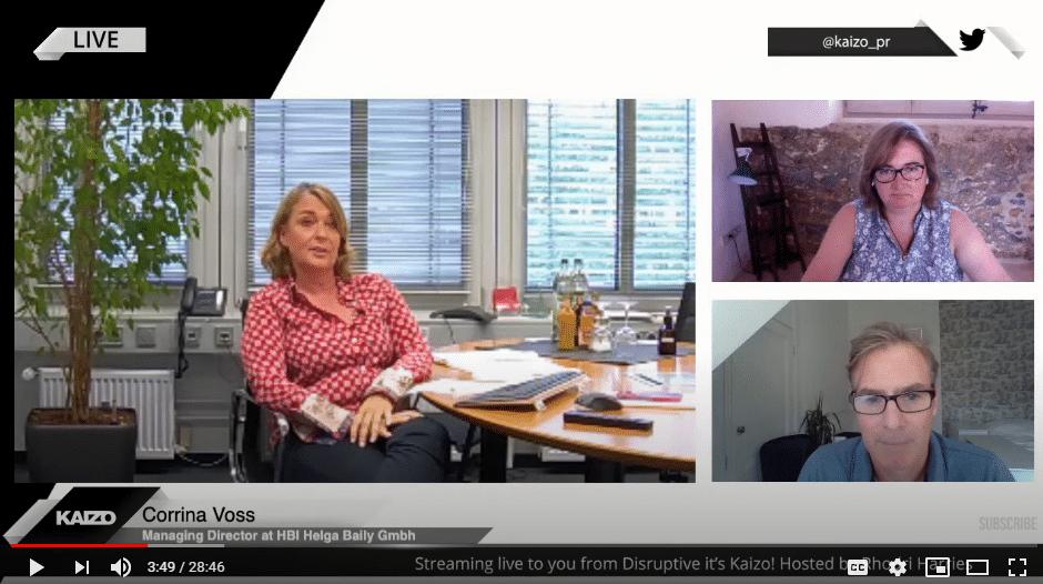 Corrina Voss bei Kaizo im Live Gespräch