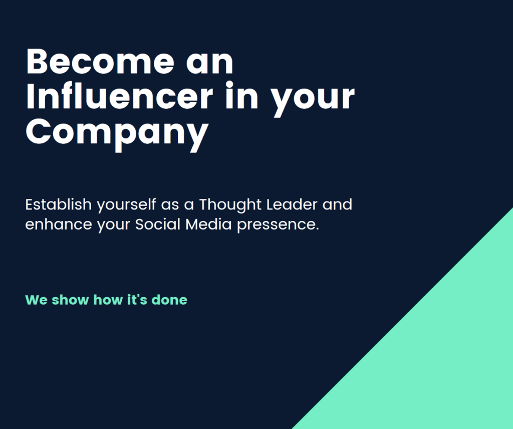 Influencer for your company