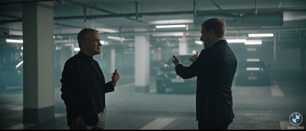 BMW Werbung Oliver Zipse und Christoph Waltz