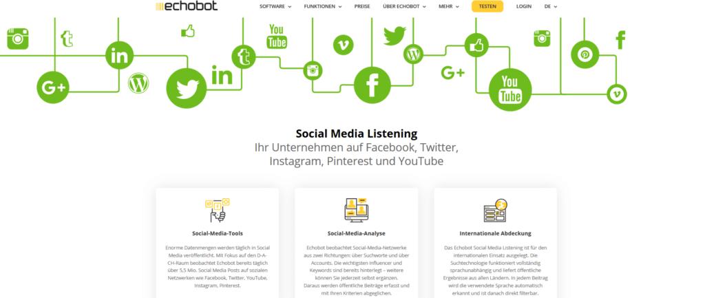 Echobot as Social Listening Tool