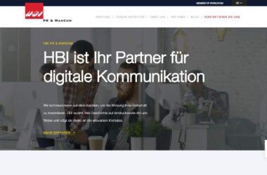 HBI neue digitale Services und neue Website